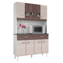 Cozinha Compacta Manu 8 Portas 2 Gavetas Poquema