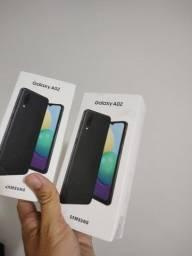Samsung A02 32gb preto, azul ou vermelho, lacrados, R$ 650