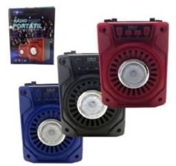 Caixa De Som Caixinha Portátil Amplificada Bluetooth Fm - 8263
