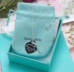 Colar Coração e Chave Tiffany