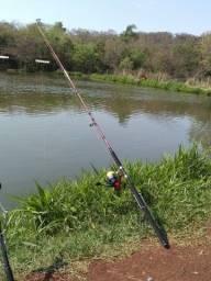 Título do anúncio: Vara de pesca + molinete