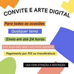 Título do anúncio: artes e convites digitais
