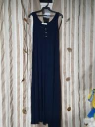 Vestido de malha longo para gestantes