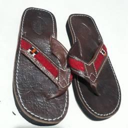 Sandália de couro Cuir Veritagle