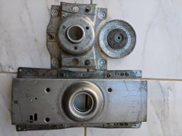 Travessa superior, inferior e polia lavadora Electrolux LTE09