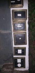 Espelhos para tomadas ,interruptores,etc.de ferro fundidos