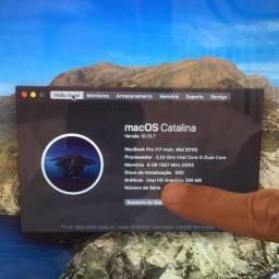 Macbook i5 2,5GHz 8GB ssd 240gb + 500gb
