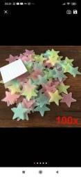 Estrelas pra decoração de quarto elas brilham no escuro a noite toda