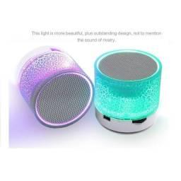 Título do anúncio: Mini Caixa Bluetooth Sem Fio MP3 Portátil a9 Com Luz Led