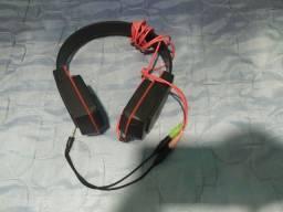 Fone de ouvido Multilaser novo + adaptador de entrada fone e microfone