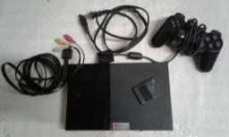 PS2 + 26 jogos 1 controle e 1 memory card