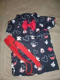 Título do anúncio: Fantasia Mickey com suspensório e gravata