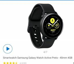 NOVO LACRADO - Vendo Smartwatch Samsung Galaxy Whatch Active,
