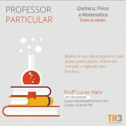 Professor particular de química,  física e matemática