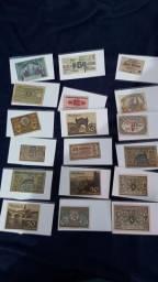 Notgeld diversas - cédulas o período guerra mundial.