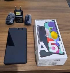 "Samsung Galaxy A51 Android Tela 6,5"" Octa-Core Câmera 48MP+12MP+5MP+5MP (Usado 1 ano)"