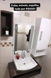 Cuba, móveis, espelho banheiro