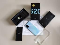 Galaxy S20 Plus Cloud Blue - Impecável NF e garantia até 12/21