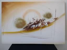 Quadro pintura a mão sobre tela +- 38 polegadas