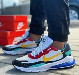 Nike airmax react colorido (tam:38,39,40,41,42,43)