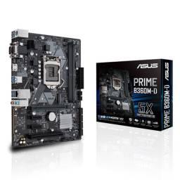 Placa Mãe Asus Prime B360M-D - NOVA - Loja Física