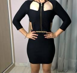 Vestido preto Maria Gueixa (festa/casual)