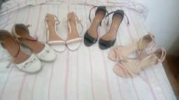 Kit com o conjunto de 4 sandálias