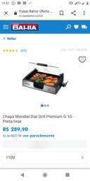 Chapa e grill inox Premium