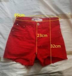 Shorts Vermelh Hot Pants