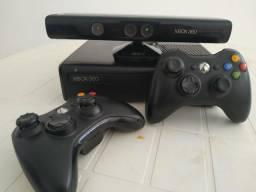 Xbox 360 + Kinect + 2 Joysticks + Vários Jogos
