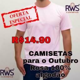Camiseta para o Outubro Rosa
