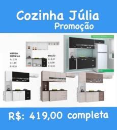 Cozinha de parede completa na promoção