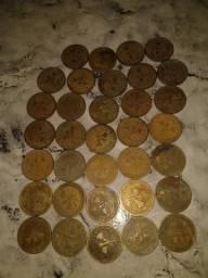Vende-se 34 moedas de 1000 reis de 1822 a 1922 centenária independência