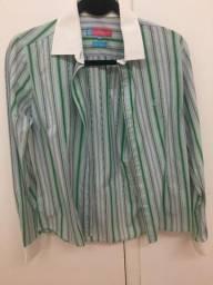 Camisa social 40 listrada Feminina