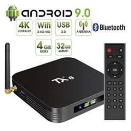 TV Box Tanix TX6 Com display 4Gb ram, 32 memória
