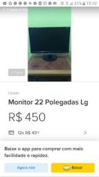 Monitor lg 22modelo Widescreen w2252tq-pf