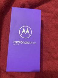 Moto one action 128gb novo sem uso