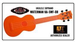 Ukulele Soprano Kala Waterman KA-SWF-OR laranja fluorescente resistente à agua
