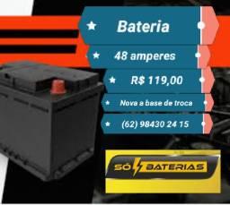 Bateria 48 amperes nova a partir de R$ 119,00