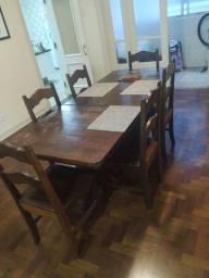 Mesa de jantar ANTIGA com 6 cadeiras