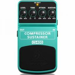 Pedal Compressor Sustain para Guitarra Baixo Violão CS400