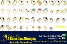 Anéis de Formatura Prata Promoção