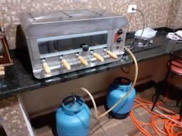 Churrasqueira Inox Rotativa 5 Espetos a Gás