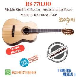 Violão Studio Rozini Clássico Acabamento Fosco Cordas Nylon RX210.AC.F.LP