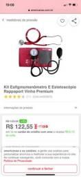 estetoscópio e esfigmomanômetro Vinho Premium