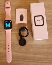 Smartwatch iwo t500 Rose e branco - Original