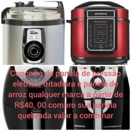 Serviço panela de pressão elétrica, panela elétrica e fritadeira elétrica