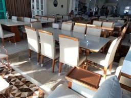 Título do anúncio: Mesa de madeira maciça pronta entrega para 8 lugares nova completa