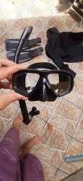 Máscara, pé de Pato, macacão