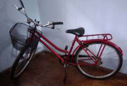 Bicicleta bike retrô vermelha